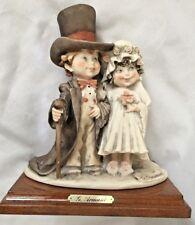 """G Armani 7X8"""" Bride & Groom in Beautiful Atire Figurine"""