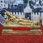 11 8  Long Reclining Buddha Statue Brass Somdet Phra Shakyamuni From Thai Temple