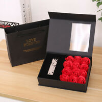 Qu_ ALS_ BU_ Ring Necklace Holder Flip Box Soap Rose Flower Jewelry Lipstick Gif