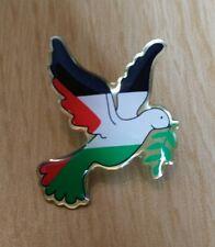 Palestine peace dove pin badge