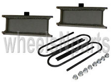 "2"" lowering blocks fab steel rear axle u bolts drop kit 1999-2014 import trucks"
