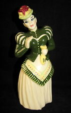 Ceramic Arts Studio Gay 90s Woman in Green 1950s Madison Wisconsin Figurine