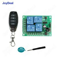 DC 12V 433MHz 4CH Wireless RF Remote Control Switch Security System Garage Doors