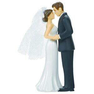 WEDDING CAKE TOPPER Bride and Groom Veil romantic Keepsake Decorations love &
