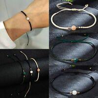 Unisex Natural Stone Beaded Bracelet Lucky Knot Rope Drawstring Bangle Jewellery