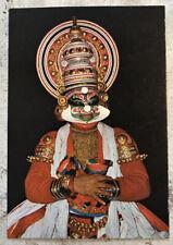 Vintage Religious Postcard ~ Kathakali Dancer Kerala India ~ Hinduism