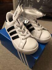 Infant Adidas Coast Star Trainers EL 1 New Black White Gift Size Uk 9.5 Euro 27