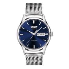 Tissot Heritage Visodate Automatic Blue Dial Stainless Steel Mesh Bracelet