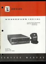 Original Factory EF Johnson Messenger 120/121 CB Radio Service Manual