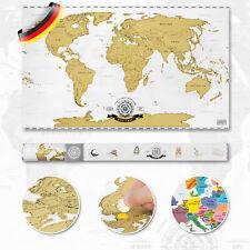 Rubbel Weltkarte Scratch Off World Map Poster XXL Landkarte zum Rubbeln 82x45cm