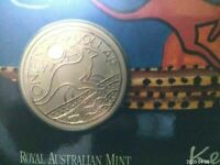 2009 $1 Ken Done Kangaroo Frosted UNC Australia Coin in RAM Card