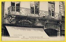 cpa PARIS 133 Rue SAINT ANTOINE Chimères RESTAURANT Maison DALAT anc. SEGUIER