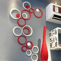 Circles Wall Stickers DIY Removable 3D Acrylic Creative Home Decorative Muraux