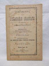 Veniali - Compimento del sillabario graduato - Mondovi 1897 Scolastici d'epoca