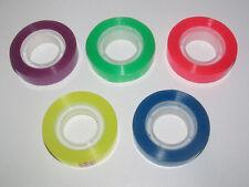 Set x5 Rouleau Ruban Adhesif Couleur Transparent 33 Mètre x 12 mm Papeterie