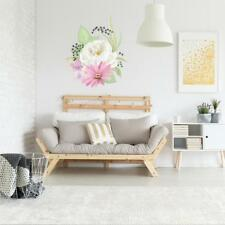 LARGE PEONY FLORAL FLOWER WALL STICKER VINYL TRANSFER MURAL FOR BEDROOM / LOUNGE