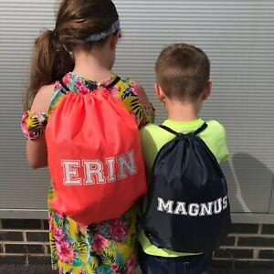 Personalised Pe bag,Personalised School Bag,Personalised Gym Sack,Back to school
