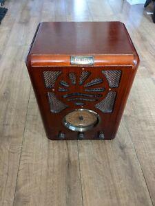 Bush R702/A Sunrise Model Art Deco Style Wooden Radio WORKING