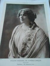 Portrait Actrice Théatre Mme Marguerite Carré Pantchika Chiquito 1909