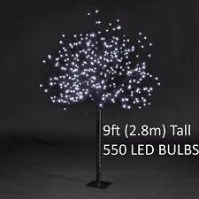 550 LED Ice White * Cherry Blossom Tree. 9ft Tall * Thick Trunk *