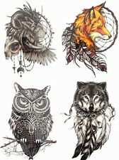 Save more!4pcs/set Temporary Tattoo Sticker Body Art Waterproof Combo Animals