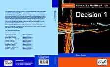 Discrete Mathematics 1: v. 1 (Cambridge Advanced Level Mathematics), Good Condit