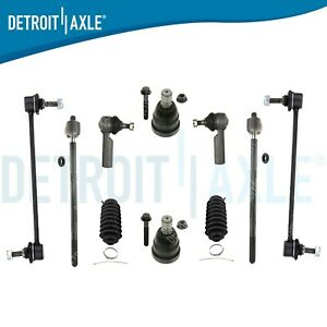 For Ford Escape 05 2005 06 2006 07 2007 09 2009 10 2010 11 2011 12 2012 2PC Front Suspension Kit - 14MM ROD END SK25291020502 Outer Tie Rods Tovasty 2