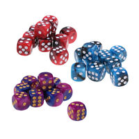 30Pc Acrylic Six Sided D6 Dice 16mm Dies Toy for   Gambling
