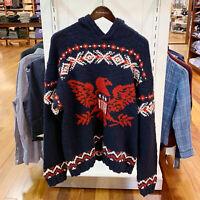 Polo Ralph Lauren Men's Intarsia-Knit Wool Sweater Hoodie
