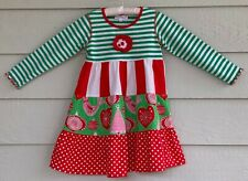 BAXTER AND BEATRICE Fine Children's Clothing sz 6 L sleeve Christmas dress - E2