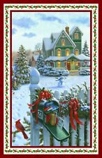 Christmas Delivery-Northcott Fabrics-Mailbox-Packages-Cards-Snowman-Snow
