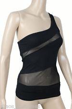 Black Night Club Top Shirt Women's Fashion DESIGNER Wear 6 8