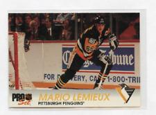 1992-93 PRO SET # 139  MARIO LEMIEUX , PITTSBURGH PENGUINS