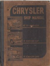 CHRYSLER WINDSOR C28 C30 C33 C34 C36-C40 (1939-48) ORIG. FACTORY WORKSHOP MANUAL