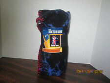 Dr WHO Police Box Plush Fleece Gift Blanket TV Show Tardis Doctor 50 x 60 2015