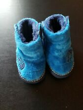 Infant The North Face Fleece Winter Bootie Shoes Blue Baby Size 2