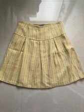 Women's Multi Color Mac & Jac Below Knee Pleated Striped  Lined Skirt sz 14
