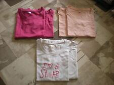 6 tee shirts tricots de peau fille - 10 ans