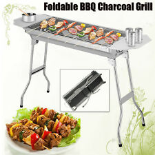 Foldable BBQ Charcoal Grill Oven Barbecue Camping Picnic Stainless Steel Outdoor