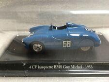 ELIGOR HACHETTE 4 CV barquette BMS Guy Michel 1953 1/43 Voiture Miniature Presse