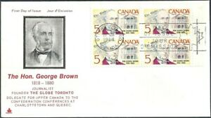 Canada  # 484   GEORGE BROWN     Brand New 1968 Unaddressed Issue