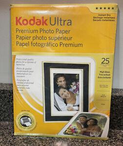 Kodak Ultra Premium Photo Paper 10 mil 8 x 10 25 sheets New Sealed Instant Dry