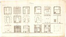 Stampa antica COSTRUZIONE STUFE dettagli Poelerie 1 1814 Old antique print