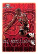 1999-00 UD MVP Basketball MJ Exclusives Michael Jordan Singles - You Choose