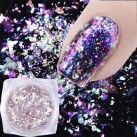 New 0.5g Chameleon Holographic Nail Sequins Mirror Powder Glitter Flakes