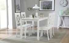 Milton & Kendal White Dining Table & 4 6 Chairs Set