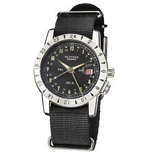 Glycine 3904.1912H.TB9 Men's Airman 1953 Vintage 42mm GMT Automatic Black Nylon