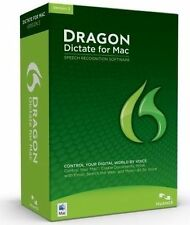 Nuance Dragon Dictate 3 Retail Full Version Mac S601A-GN9-3.0 New Open Box
