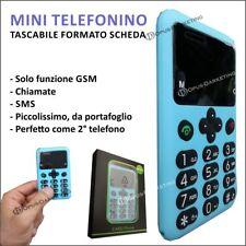 MINI TELEFONO CELLULARE GSM SCHEDA SLIM ERGONOMICO MOVIE HOUSE ANZIANI BAMBINI