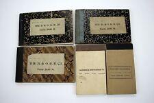 5 Original B&O O R.R. CO. Blank Tablet books Form No. 2030M circa 1920s